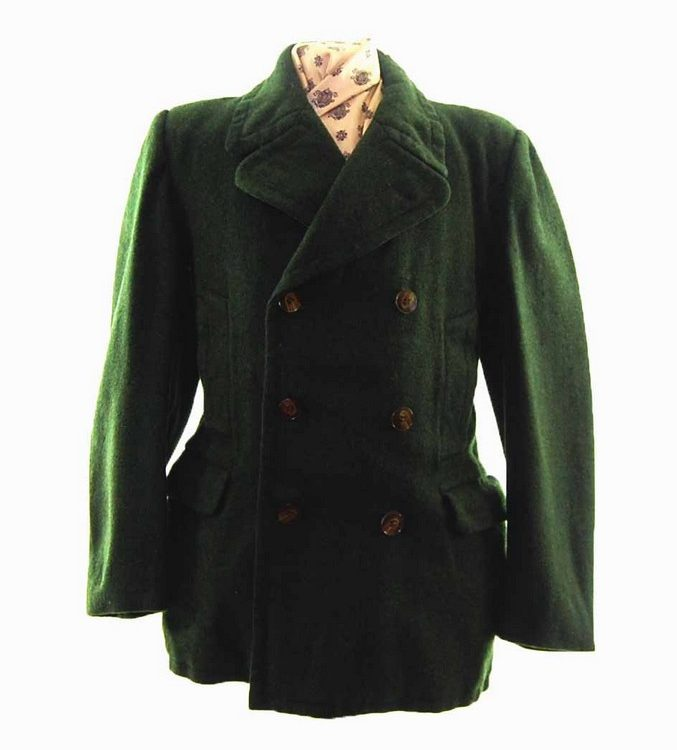 1940s Men's Pea Coat