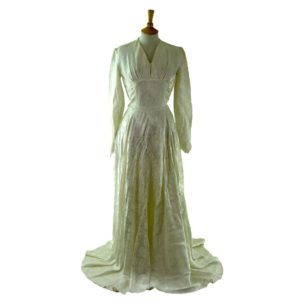 1940s Satin Wedding Dress