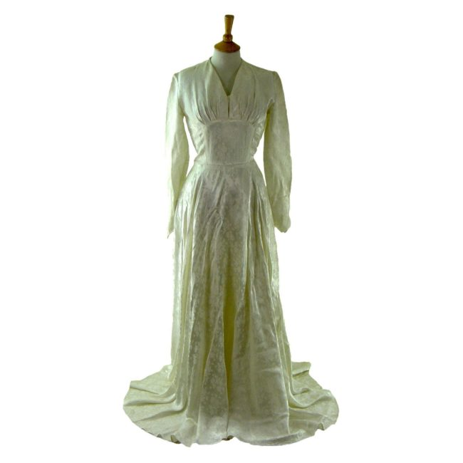 1940s Satin Wedding Dress