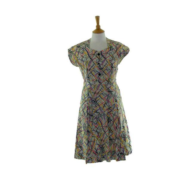 Cotton print 50s Dress
