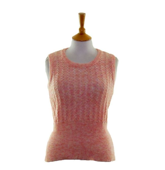 70s Peach Coloured Tank Top