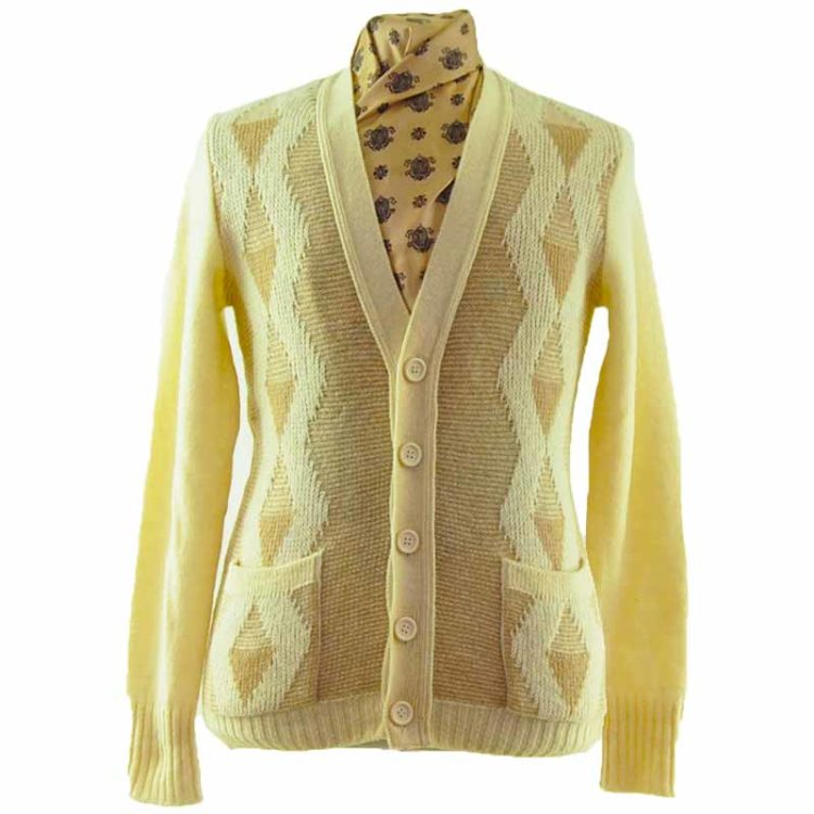 70s Retro Mens Cardigan