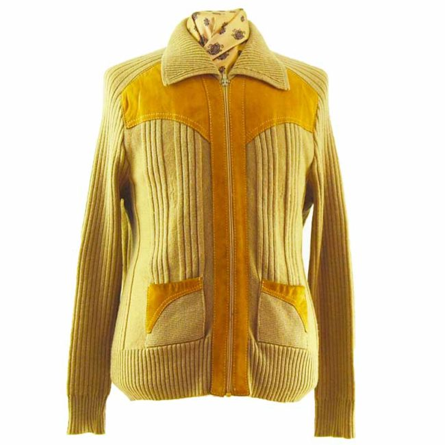 70s Wide Collar Cardigan