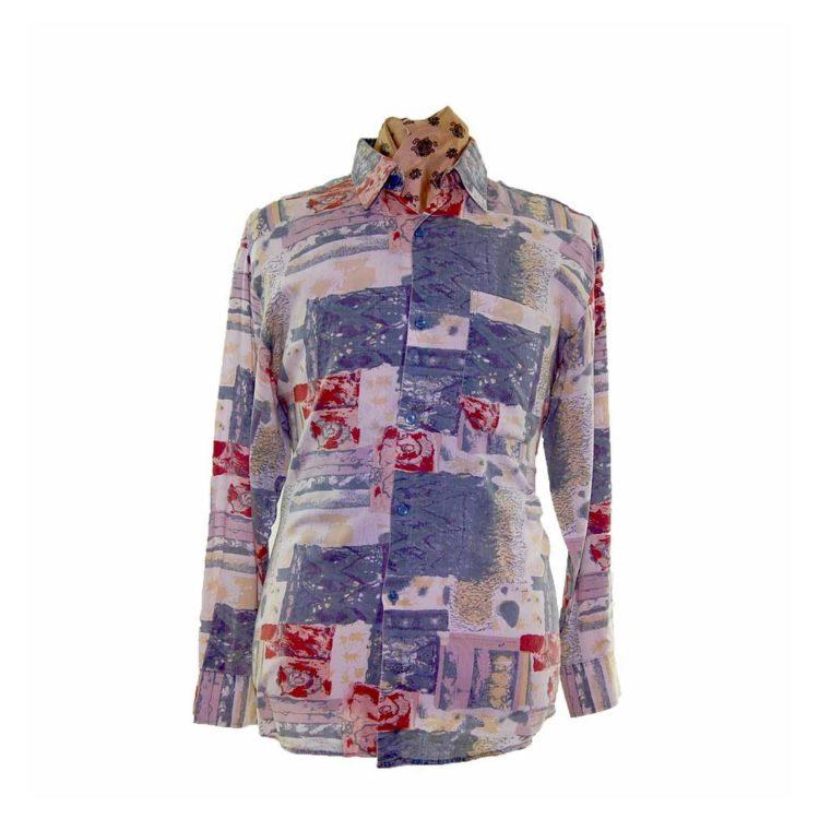 80s Multicolored Long Sleeve Shirt