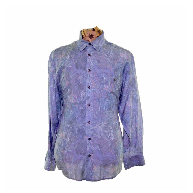 80s Multicolored Patterned Shirt