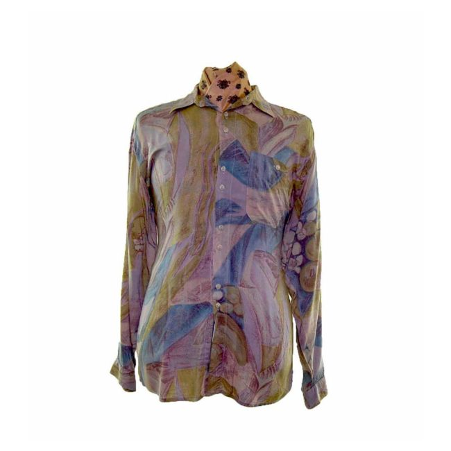 80s Multicolored Tropical Shirt