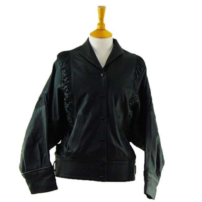 80s Oversized leather Jacket