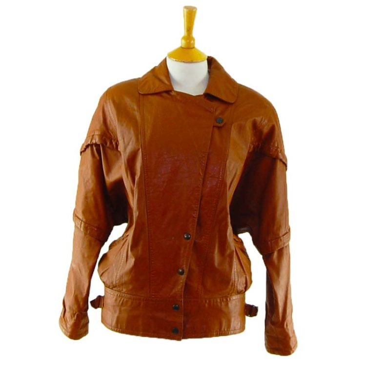 80s Tan Leather Jacket