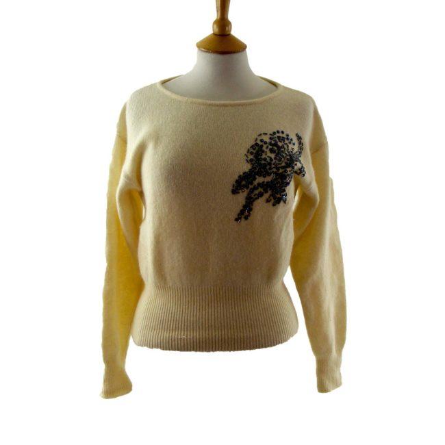 80s beaded sweater