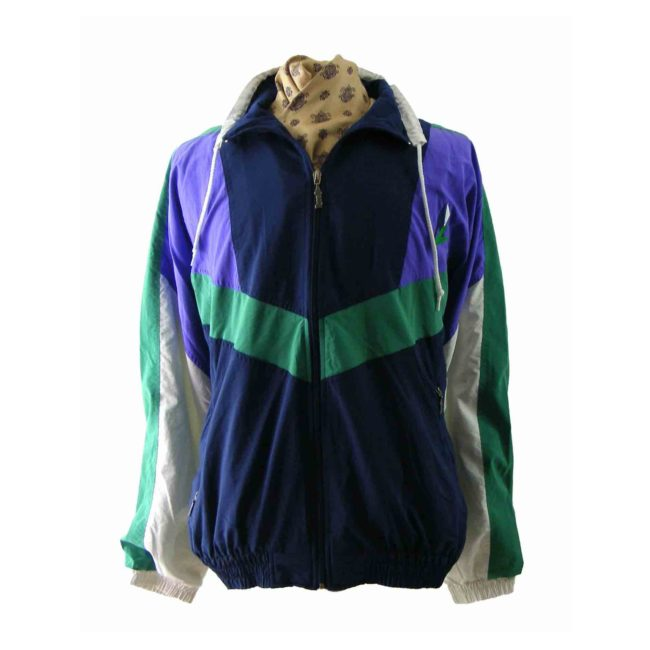 80s multicoloured shell suit top