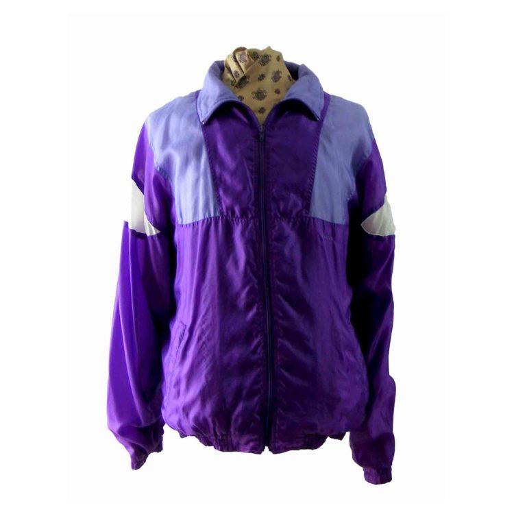 80s purple & lavender shell suit top