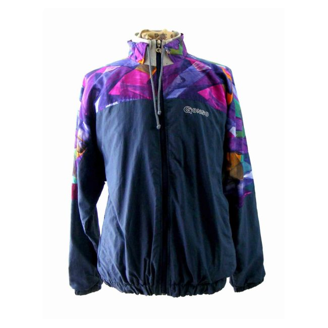80s shell suit casual jacket