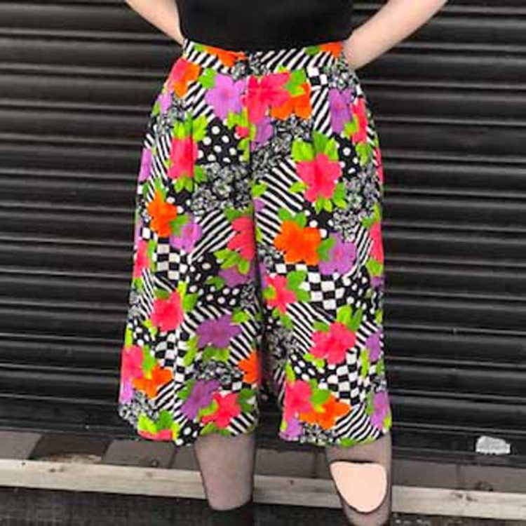 90s Abstract Culottes