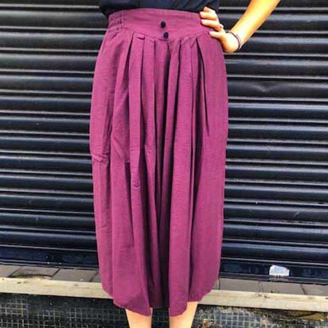 90s Aubergine Purple Culottes