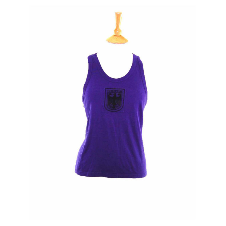 90s Deep Purple Cotton Bundeswher Army Vest