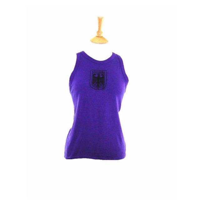90s Deep Purple Cotton Bundeswher Military Vest -