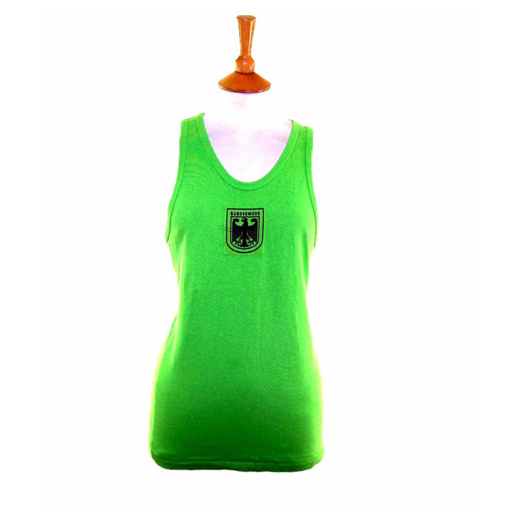 90s Fluorescent Green Military Vest