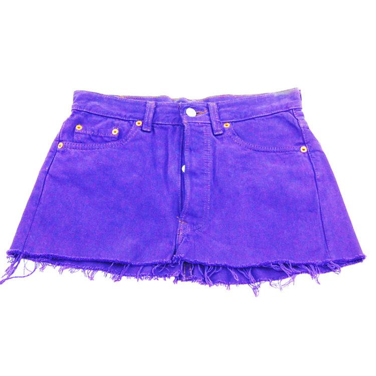 90s Frayed Levis Mini Skirt