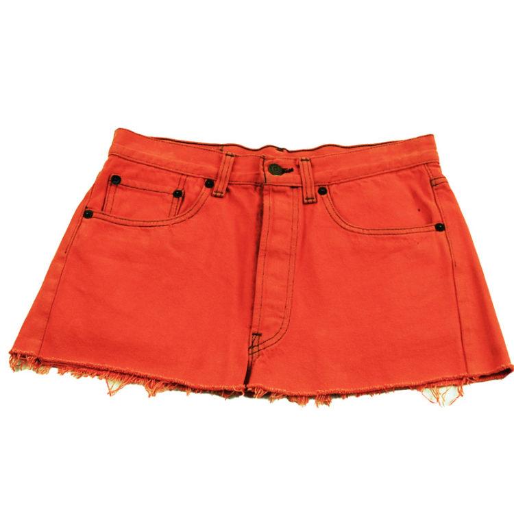 90s Levis Vibrant Orange Mini Skirt