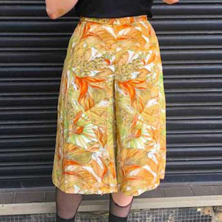 90s Nature Printed Culottes
