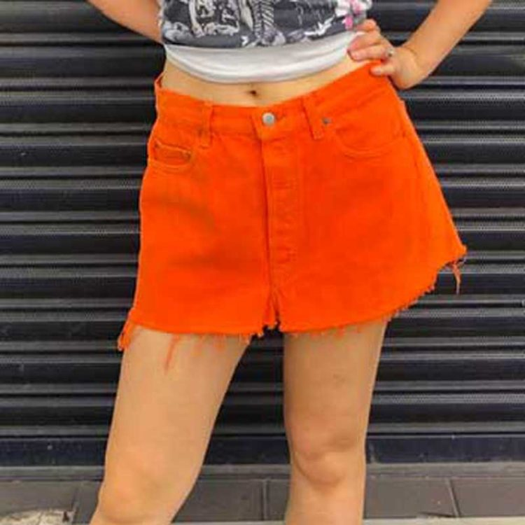 90s Orange Levis Mini Skirt