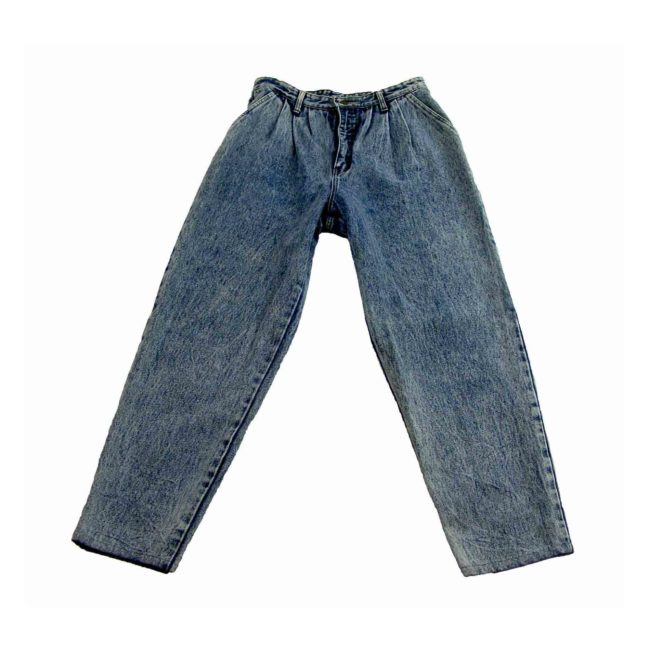 Pleated High Waist Jeans