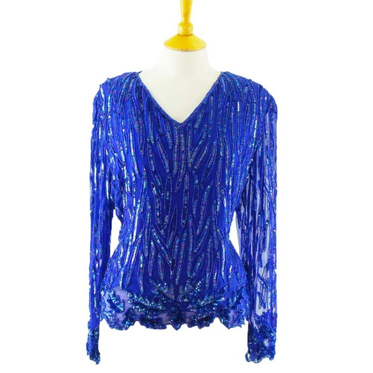 90s Purple Sequined Top