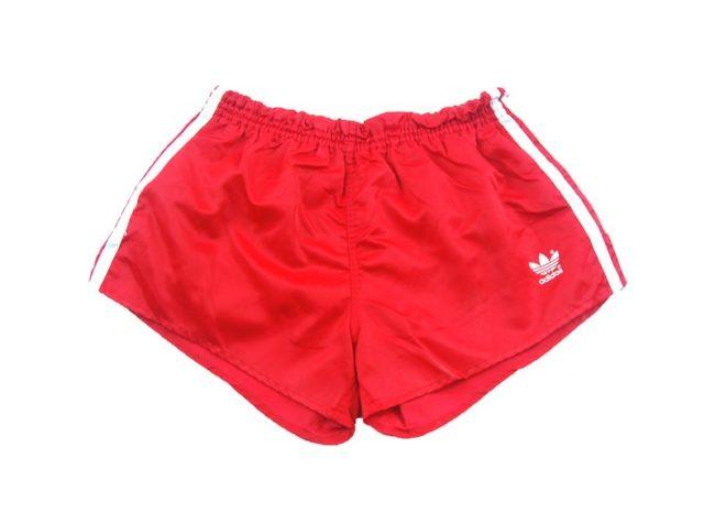 Red Satin Adidas Shorts
