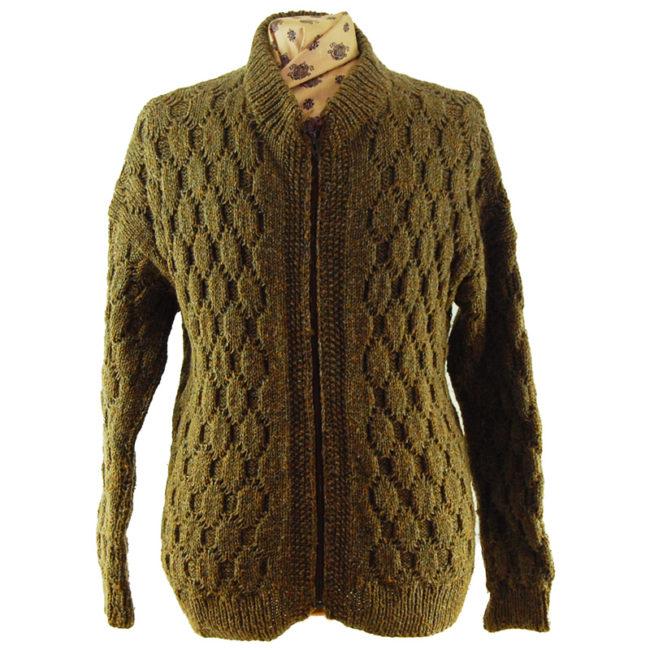 90s Vintage Brown Cardigan