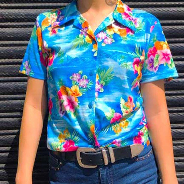 90s Womens Hawaiian Shirt
