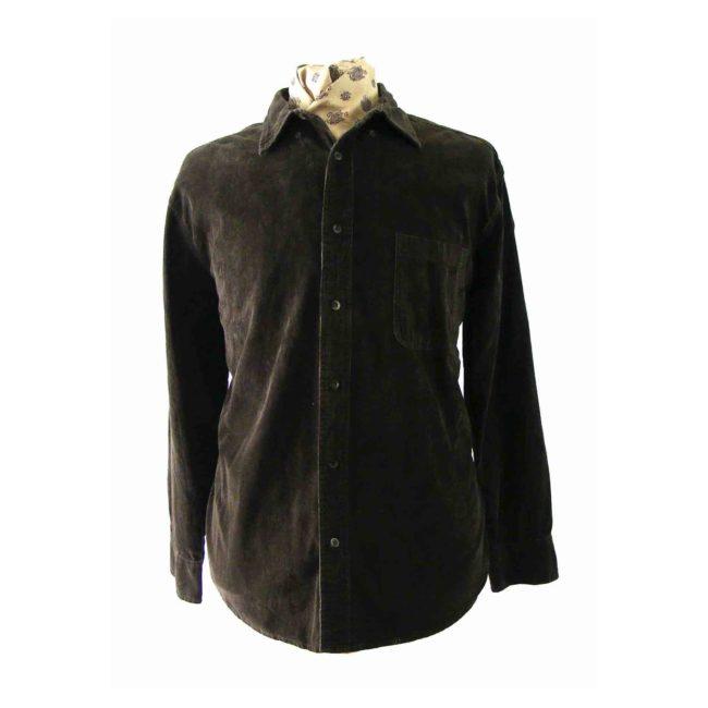 Chocolate Brown Corduroy Shirt