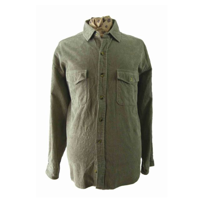 90s Grey Corduroy Shirt