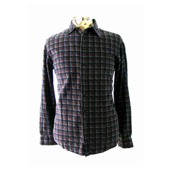 Multicolored Checked Corduroy Shirt