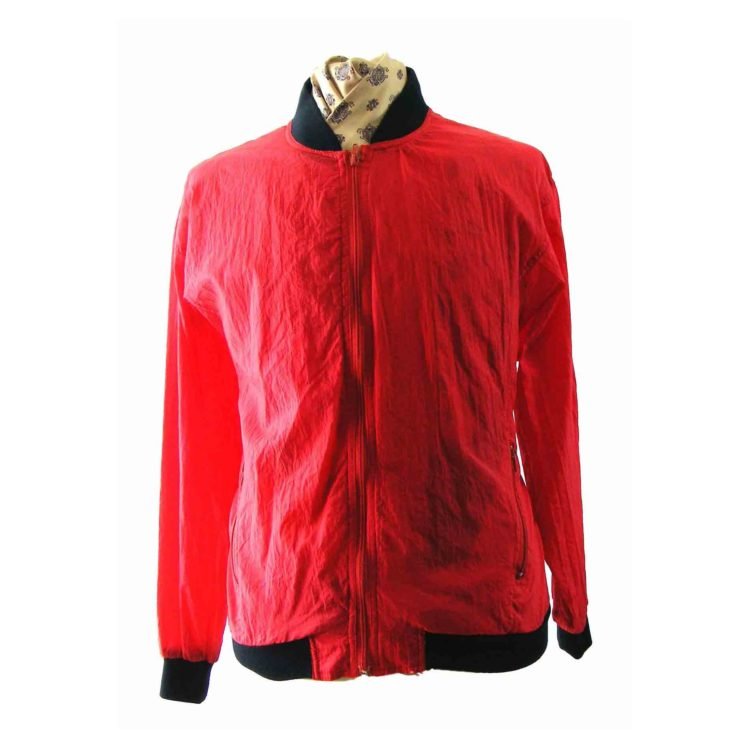 90s Red Bomber jacket