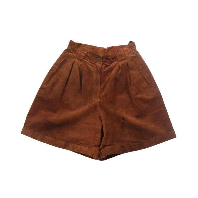 90s Dark tan suede shorts