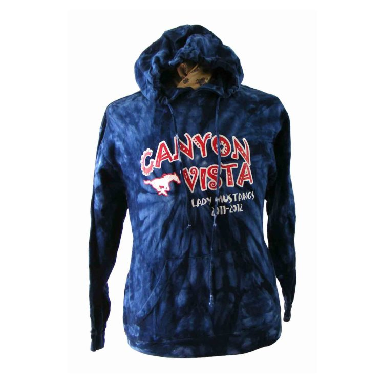 Canyon Vista Lady Mustangs Hooded Sweat shirt.