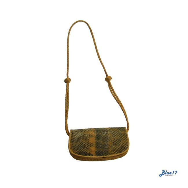 Ethnic snakeskin shoulder bag