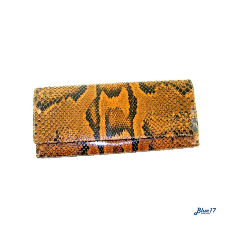 70s Snakeskin Clutch Bag