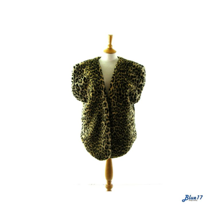 90s Leopard print waistcoat