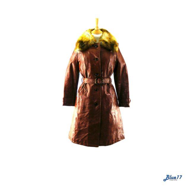 70s Orange Vinyl coat