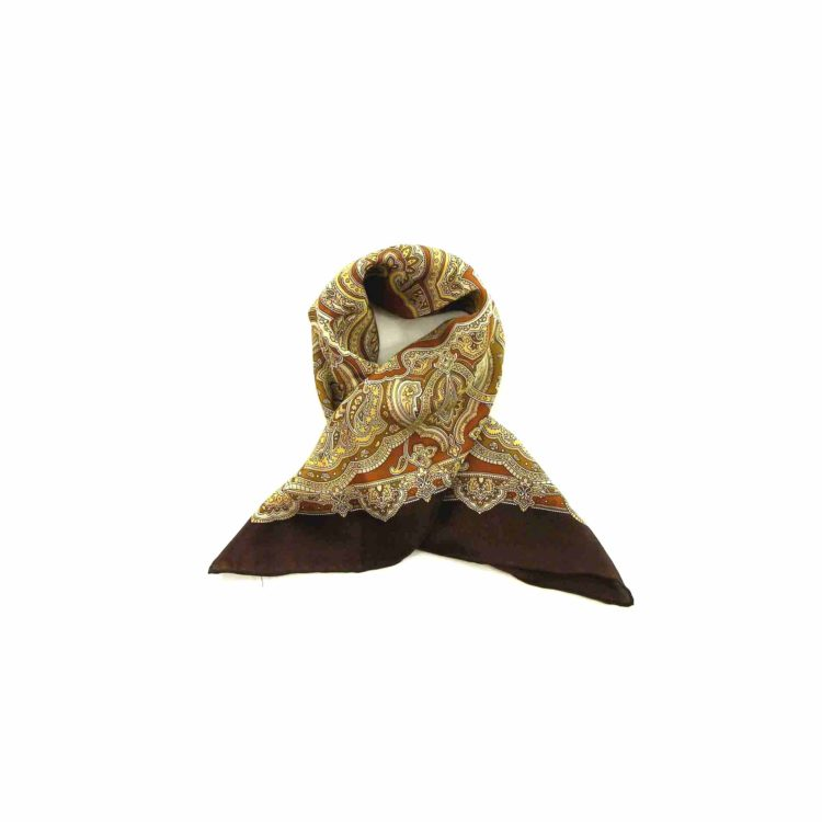 Brown Paisley Printed Head Scarf