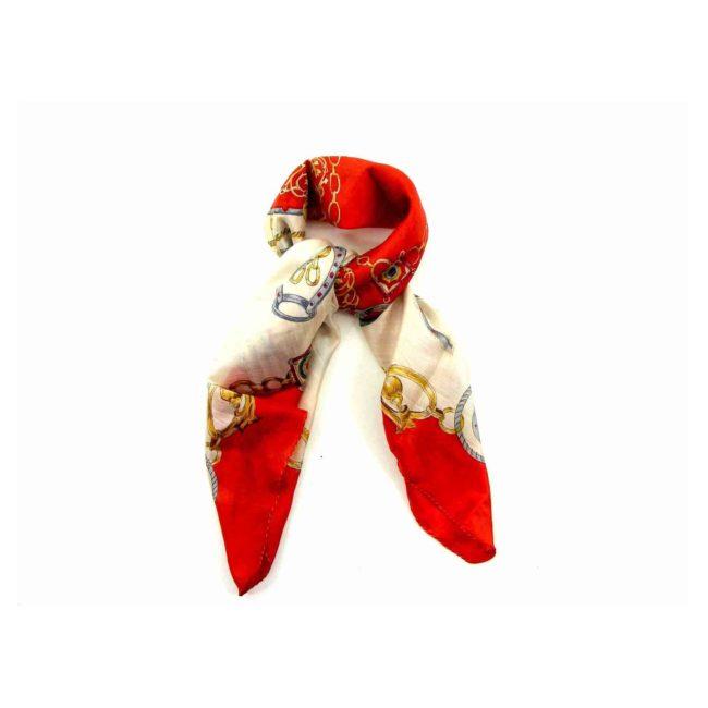 Red Horseshoe Chain Head Scarf