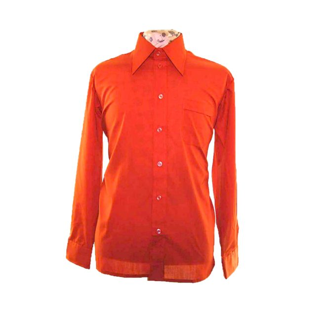 70s Copper Brown Long Sleeve Shirt