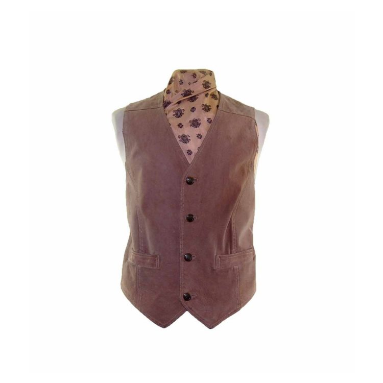Tan Authentic Suede Waistcoat