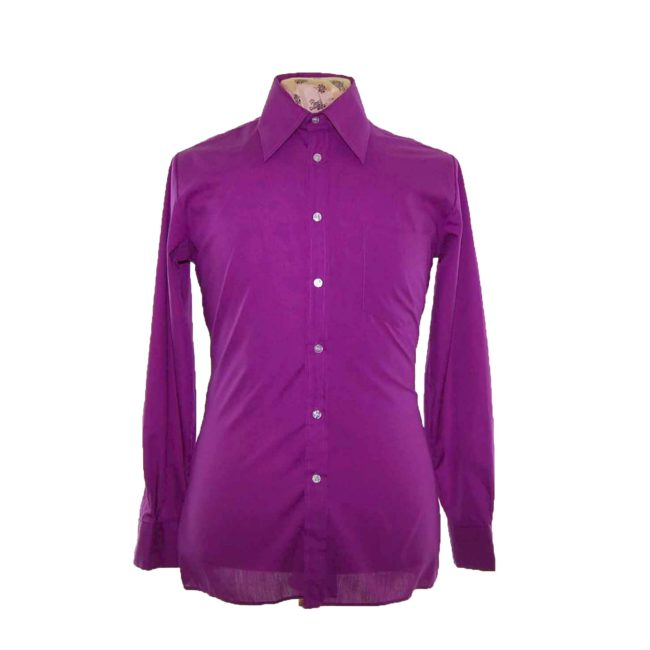 70s Purple Long Sleeve Shirt