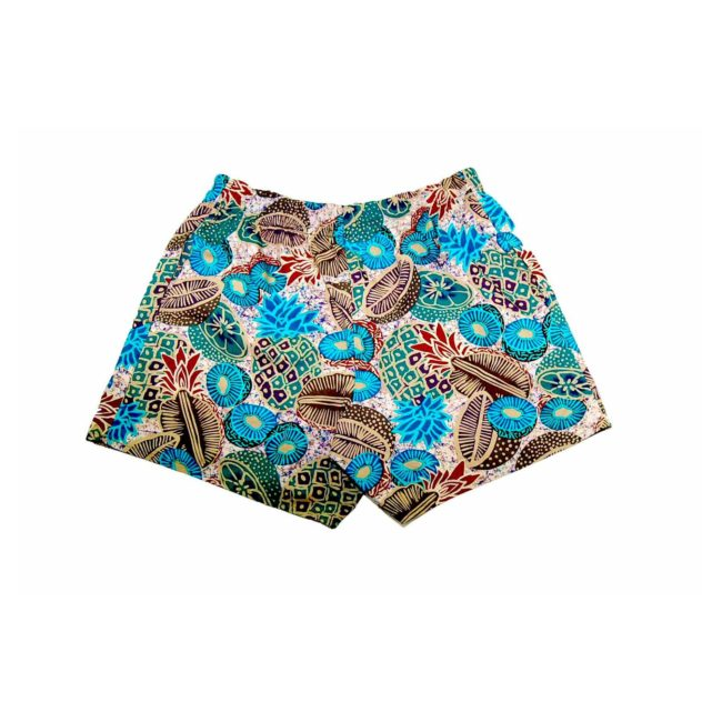 90s Khaki Printed Hawaiian Shorts