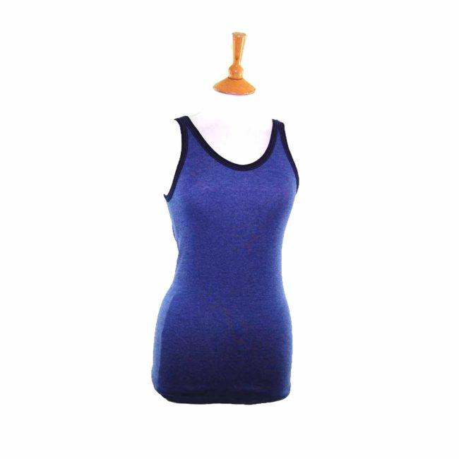 Womens Dark Blue Vest Top