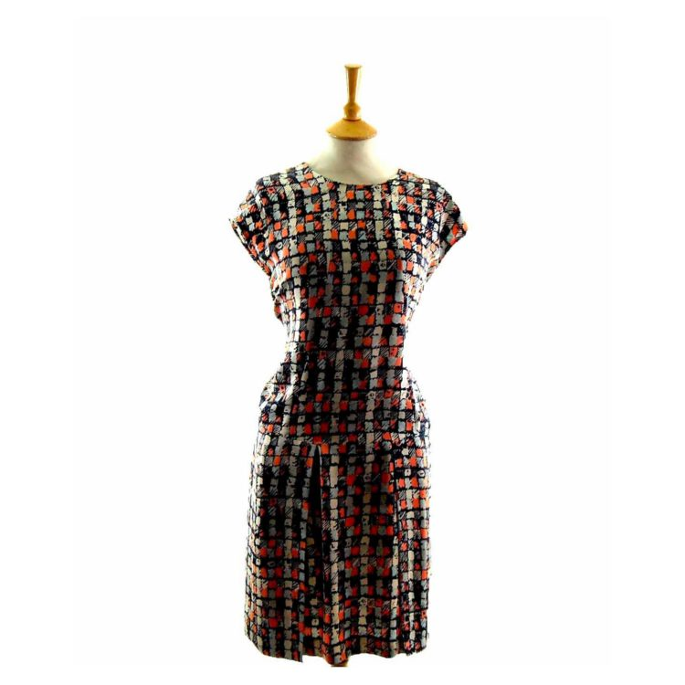 Aquascutum 60s Silk Shift Dress