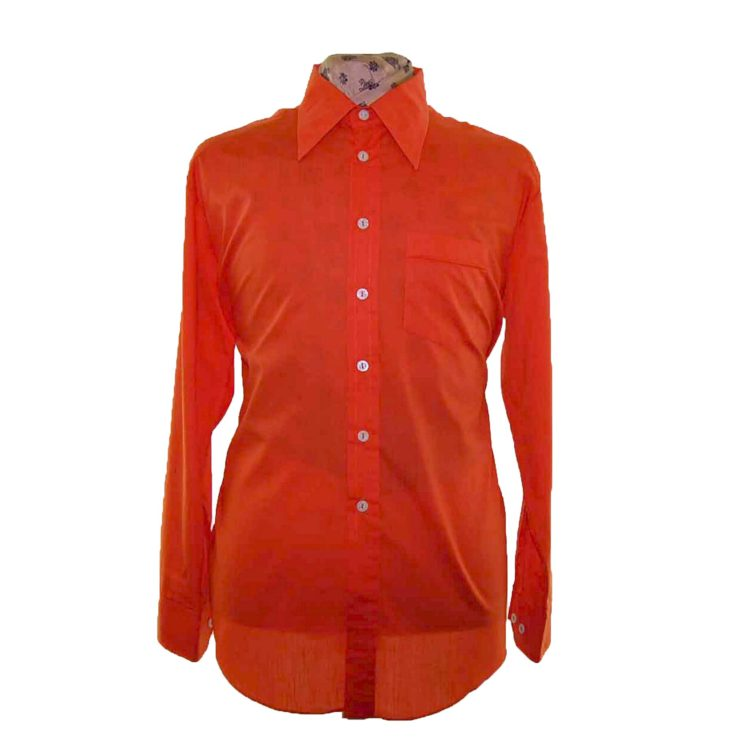 70s Orange Long Sleeve Shirt