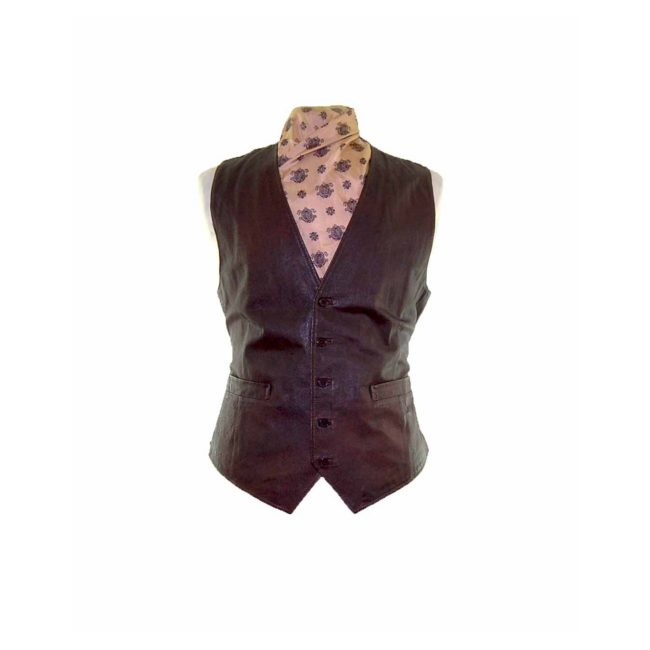 Brown Authentic Leather Waistcoat